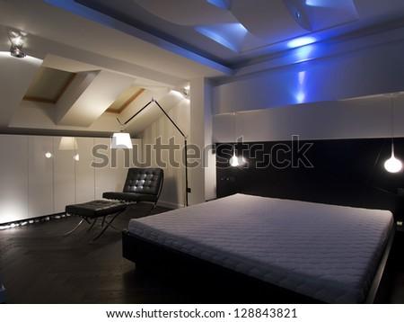 Modern Bedroom Led Lighting Decoration Stock Photo 128843821 ...