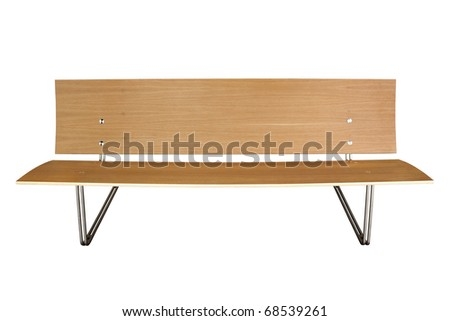 Modern bench isolated on white - stock photo