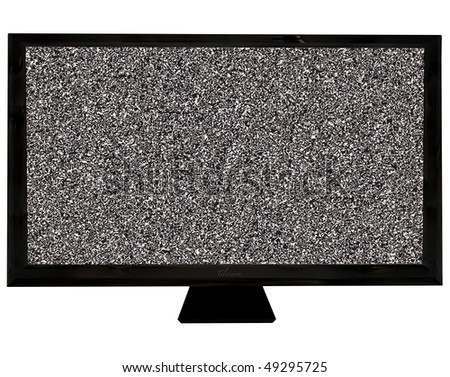 Modern black flat screen  with room to add your own image - stock photo