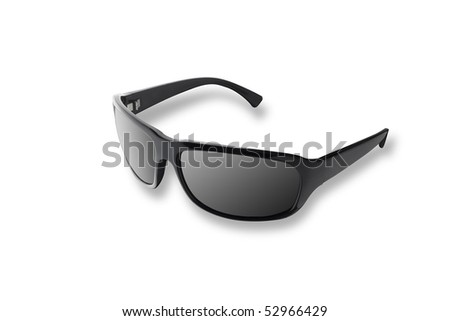 Modern black sun glasses - stock photo