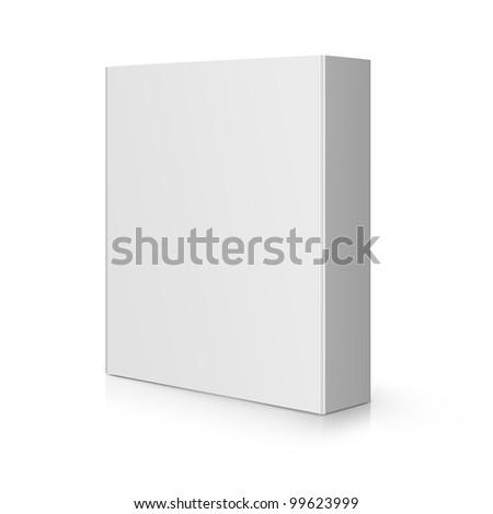 Modern blank Software Box. - stock photo