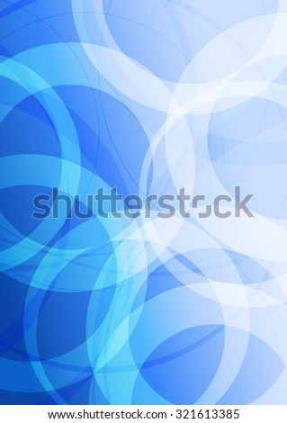 Modern Blue Abstract Background - Raster Version - stock photo