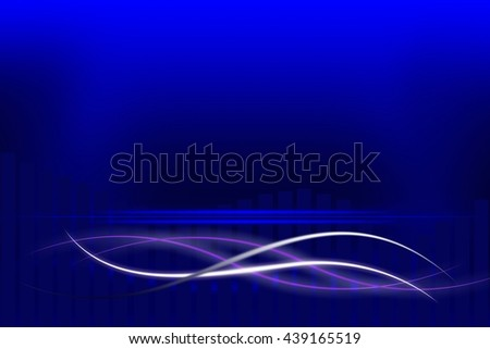 Modern blue background with abstract smooth lines - stock photo