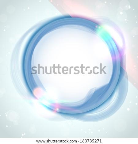 Modern Blue Circle Glowing Effects - stock photo