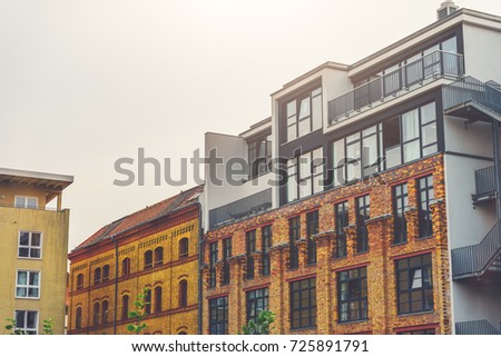 Modern brick office building with panorama windowsNew Modern Apartment Building Stock Photo 605522582   Shutterstock. Modern Brick Apartment Building. Home Design Ideas