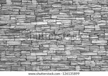 Modern brick wall (monochrome photo). - stock photo