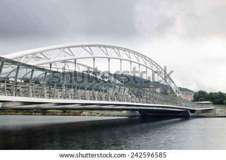 Modern bridge - stock photo