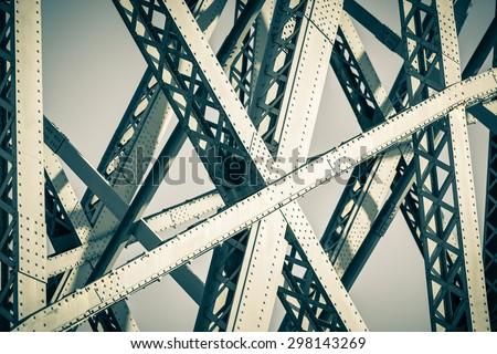 Modern Bridge frame closeup. Filtered image - stock photo