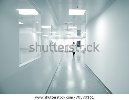 Modern bright factory interior - stock photo