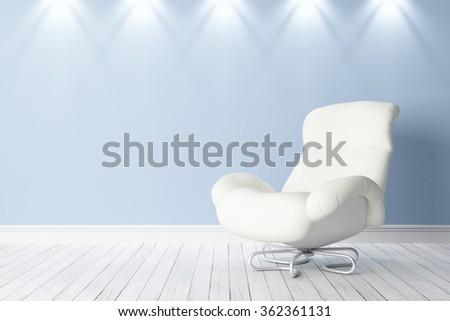 Modern bright interior - stock photo