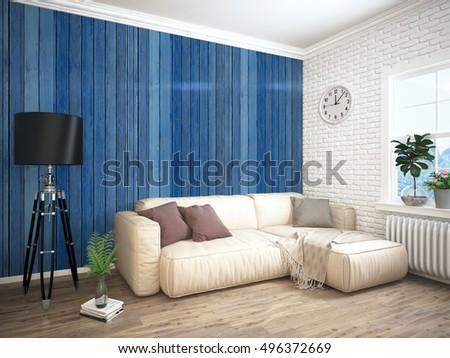 Bedroom Interior 3d Illustration Stock Illustration