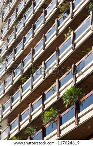 Modern building balcony. - stock photo