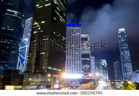 Modern building cityscape in Hong Kong