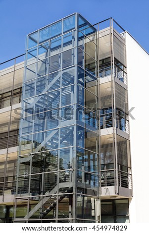Modern building exterior - stock photo