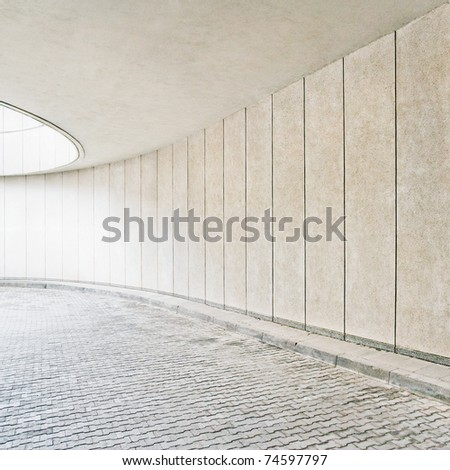 modern building exterior detail - stock photo