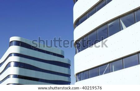modern Building Exterior on a blue sky - stock photo