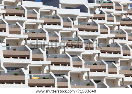 Modern building facade made of concrete