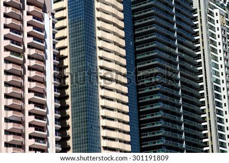 Modern building from Dubai - stock photo
