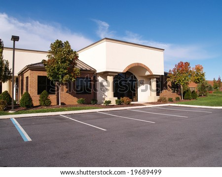 modern building in an office complex - stock photo