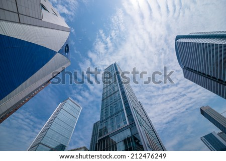 modern building in Chengdu, China - stock photo