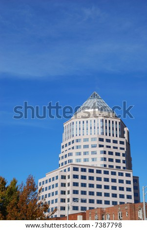 Modern building in downtown Charlotte, NC - stock photo