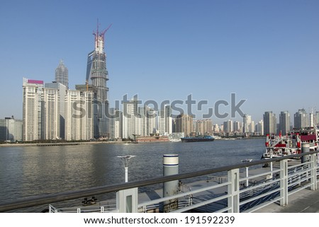 Modern building in Shanghai, China - stock photo