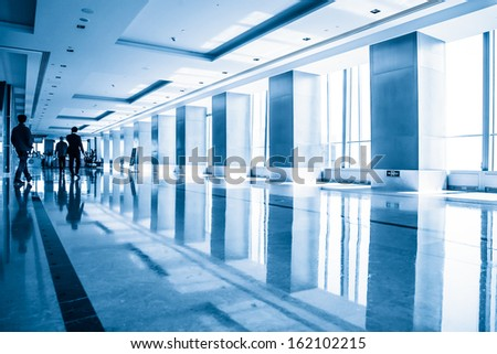 Modern building interior - stock photo