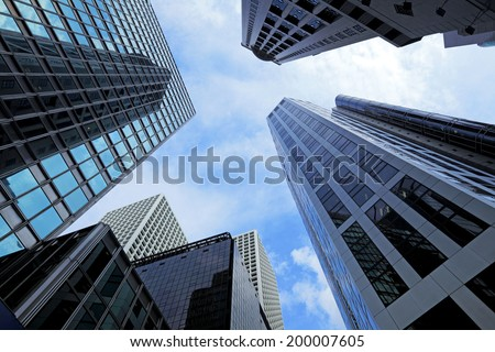 Modern building Landscape in Hong Kong  - stock photo
