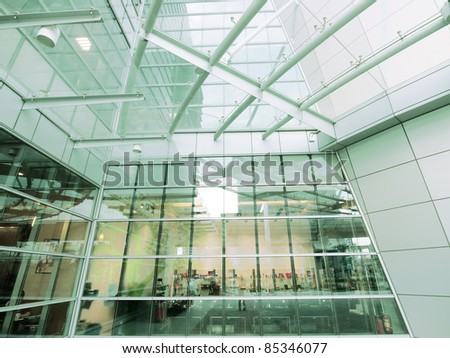 Modern building made by glass - stock photo