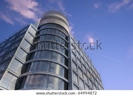 Modern building on a background sky
