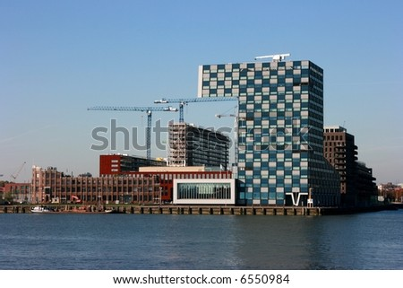 Modern building, Rotterdam, The Netherlands - stock photo