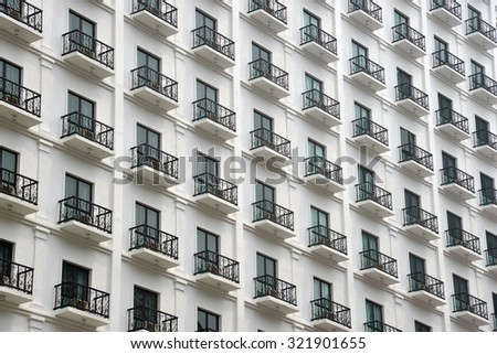 Modern Building With Many Rooms - stock photo