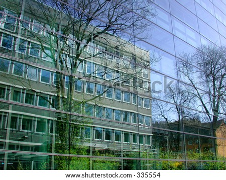 modern buildings, Cologne - stock photo