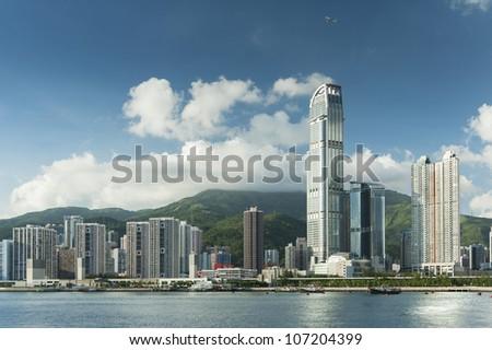 Modern Buildings in Hong Kong - stock photo