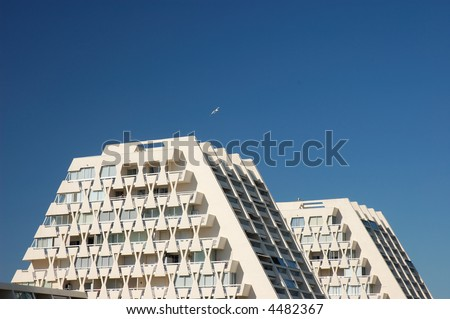Modern buildings in La Grande Motte, France