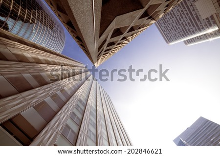 Modern Buildings in Paris. Business Concept - stock photo