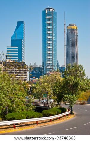 Modern buildings in Santiago de Chile - stock photo