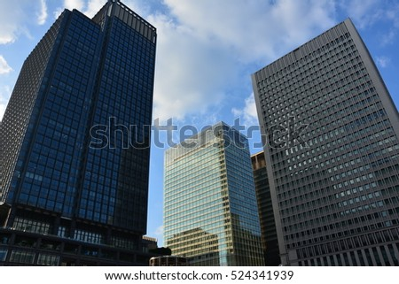 Modern buildings in the big city.