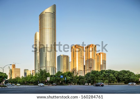 modern buildings in the city - stock photo