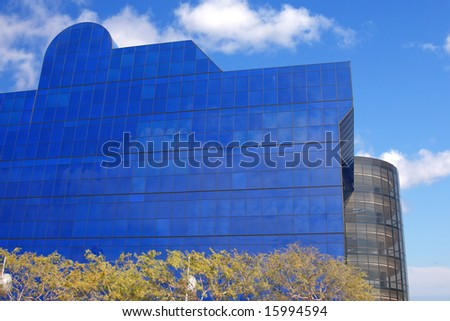 Modern buildings in West Hollywood, Los Angeles, California. - stock photo