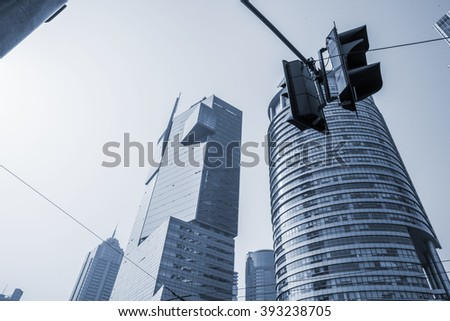 modern buildings, shanghai, china - stock photo