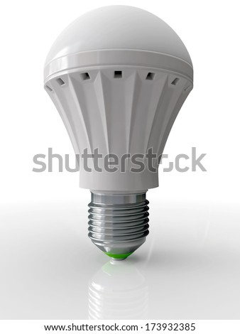 Modern bulb for illumination with technology LED energy saving up 3D - stock photo