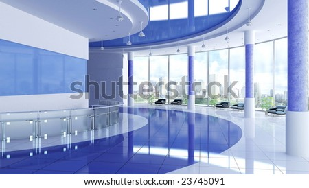 Modern business an interior - stock photo