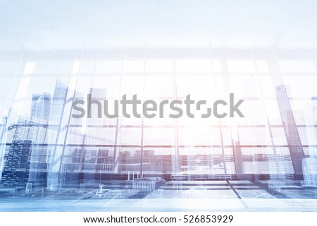 modern business background, glass wall in the office or airport, abstract interior