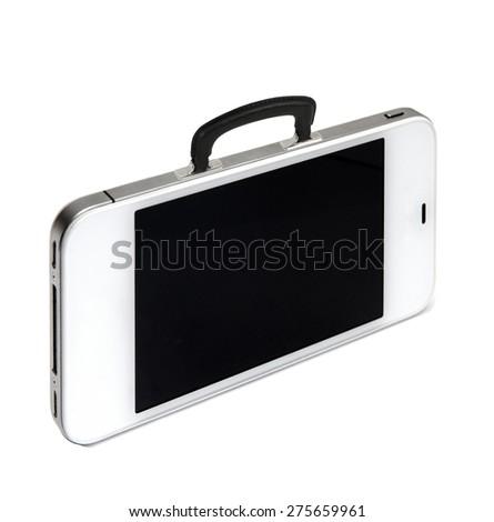 Modern business briefcase - stock photo