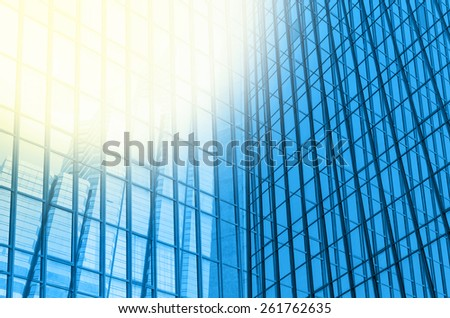 Modern business building glass of skyscrapers, Business concept of architecture - stock photo