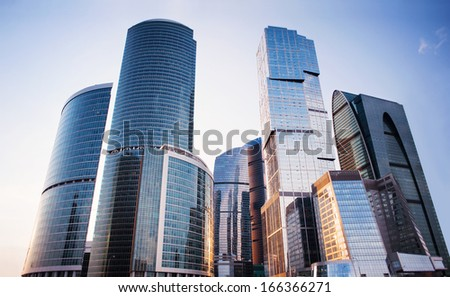 Modern business center - stock photo