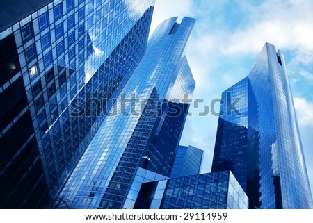 modern business center in europe-4 - stock photo