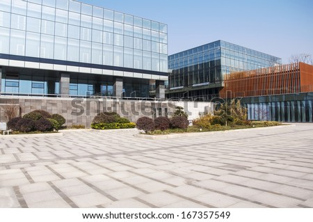 Modern business center square - stock photo