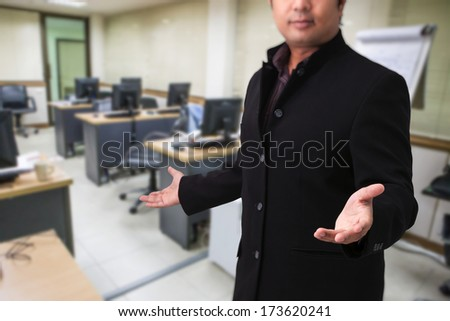 Modern business  in the office - stock photo